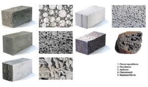 Разновидности лёгкого бетона