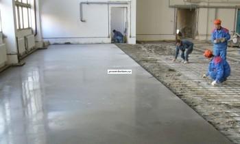 Производство бетонного пола