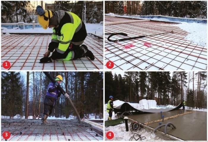 Укладка бетона в зимний период