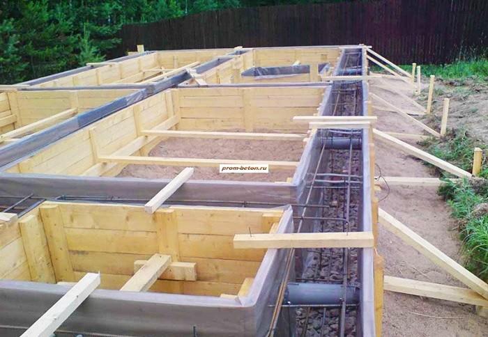 Заливка бетона фундамент бетонная смесь для бордюров