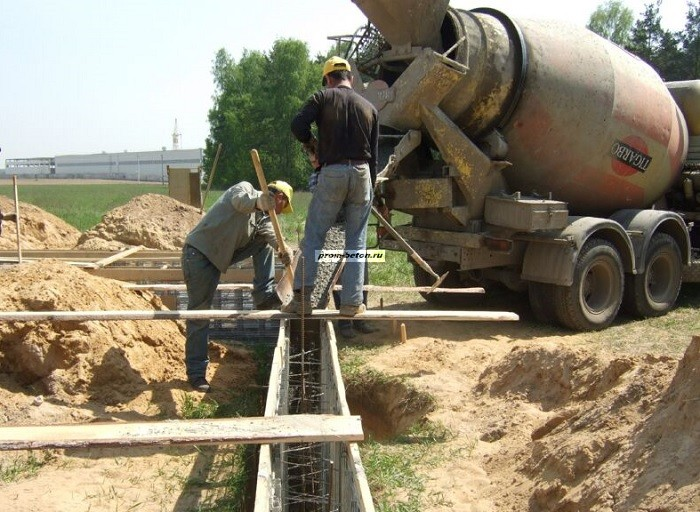 миксер заливка бетона