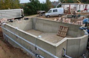 Строительство железобетонного бассейнов