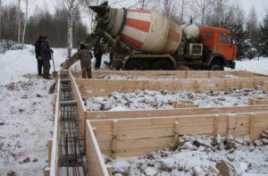Заливка бетона зимой в мороз