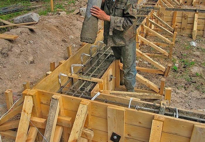 Залить опалубку бетоном краситель для бетона цена в москве