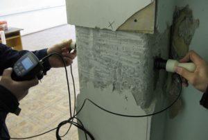 Определить параметров бетона используя ультразвуковой толщиномер