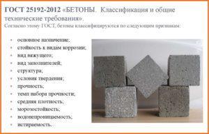 Определение и общая классификация бетонов