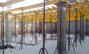 Зачем нужны телескопические стойки в монолитном строительстве