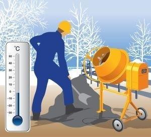 Применение бетона зимой