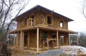 Дом из соломенных блоков
