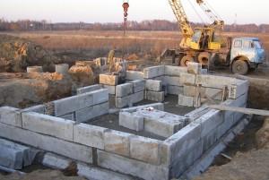 Применение фундаментных блоков