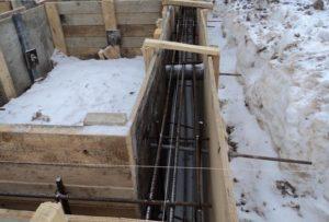 Строительство фундамена зимой в холодное время